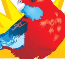 Crimson Rosella Sticker