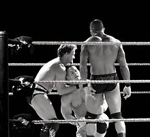 Chris Jericho, John Cena and Randy Orton by Dawn Palmerley