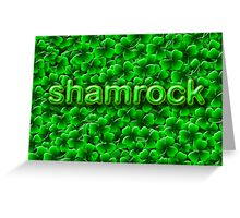 A Bed of Shamrock Greeting Card