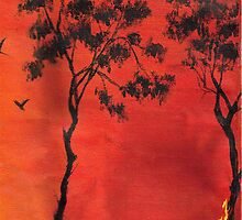 Bush fire by Phoenix-Appeal