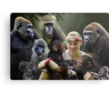 Jane and the Primates Metal Print