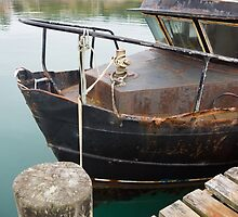 rusty boat by Anne Scantlebury