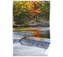 Autumn Colors at Bond Falls Poster