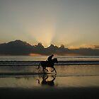 evening rider by Ashley Boland