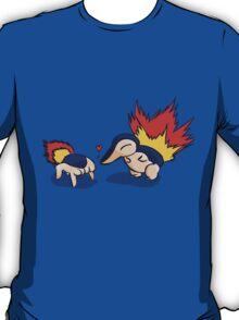 Pokemon Half-Life 2 Cyndaquil and Headcrab Playdate T-Shirt