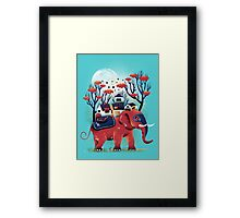 A Colorful Ride Framed Print