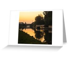 Grand Union Canal at Mitre Bridge Greeting Card