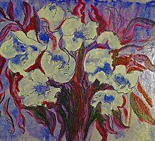 Frida's Red-Leaf Flowers by izzybeth
