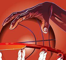 Basketball Slam Dunk Point Print  by CroDesign