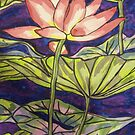 Lily/Lotus - in Gouache by Alexandra Felgate