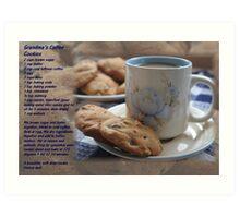 Grandma's Coffee Cookies (recipe) Art Print