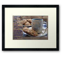 Grandma's Coffee Cookies (recipe) Framed Print