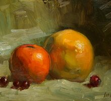 Grapes, Orange and Grapefruit by Les Castellanos