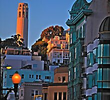 Up Kearny to Coit Tower by Paul J. Owen