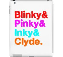 Blinky & Pinky & Inky & Clyde - Pacman iPad Case/Skin