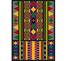 Ethnic Arabic African Baduy Pattern Photographic Print