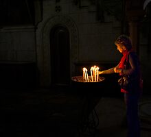 Candles by Moshe Cohen
