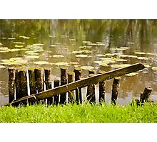 Old broken wooden fence Photographic Print