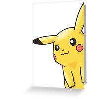 eavesdropping pikachu  Greeting Card