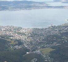 Birds eye view of Hobart by Didee