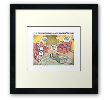 Kids and their gadgets Framed Print