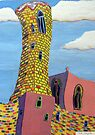 246 - BARCELONA DESIGN #1 - DAVE EDWARDS - ACRYLIC, GOUACHE & COLOURED PENCILS - 2009 by BLYTHART