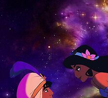 Aladdin and Jasmine Galaxy by hilarydewitt