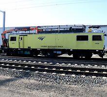 Amtrak Catenary Maintenance Unit in Kingston Yard by Jack McCabe