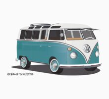 VW Bus T2 Teal Blk by Frank Schuster