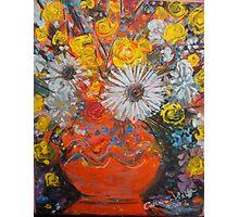 vase of flowers  Photographic Print