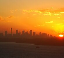 Sunset over Sydney by Phoenix-Appeal