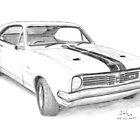 1970 Holden GTS Monaro by Joseph Colella