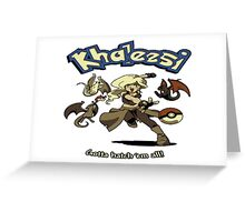 Khalessi - Gotta catch em' all - Game of Thrones Pokemon crossover Greeting Card