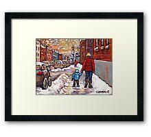 BEST CANADIAN CITY SCENES VERDUN MONTREAL WINTER SCENES Framed Print