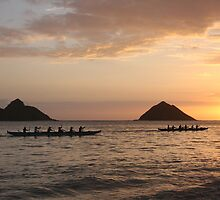 Sunrise Paddlers by noffi