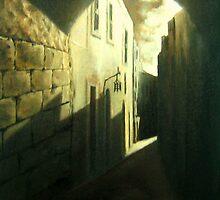 Street in Mdina by BRIMMER