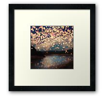 Wish Lanterns for Love Framed Print