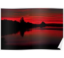 Sunset at Cape Mears Lake Poster