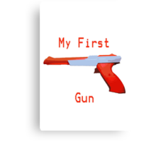 My First Gun Canvas Print