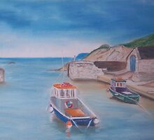 Ballintoy Harbour, Northern Ireland by EWhitesideArt