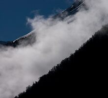 Mist above Lac du Chambon, The French Alps by Elizabeth Turner