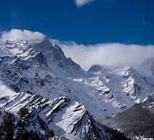 La Meije Mountain and Glacier, The French Alps by Elizabeth Turner