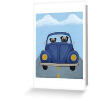 Pugs in a Bug Greeting Card