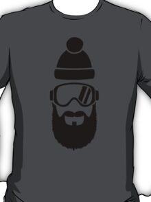 Ski goggles full beard T-Shirt