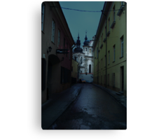 Old Street in Vilnius Canvas Print