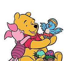 Pooh and Piglet at Easter by BelovedxCisque