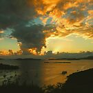 Great Cruz Bay Sunset, St.John by Stephen Vecchiotti