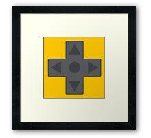 D-Pad Dimension Framed Print