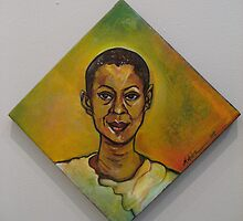 Self Portrait for Sapphire and Crystals Auction (SOLD!) by Makeba Kedem-DuBose