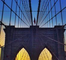 Brooklyn Bridge At Sunset Sticker